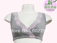 Hot wholesale!!! Free shipping 100% Cotton Wireless Plus Size Fashion Feeding Bra Underwear Nursing Maternity Bra