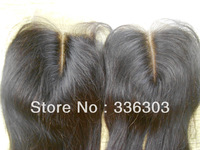 Stock #1b middle parting front lace closure, peruvian silky straight top piece closure with bleached knots free shipping