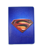 Brand Original Retro Cartoon Superman Flip Stand Leather Cases Smart Cover For Samsung Galaxy Tab 2 10.1 P5100 P5110 Handbags