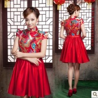 2013 married cheongsam evening dress short design formal dress vintage maternity dress