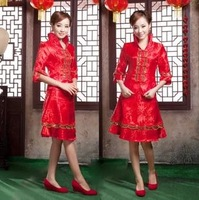 2013 cheongsam twinset married cheongsam improved cheongsam short design ceremonized a01 evening dress