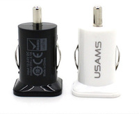 200pcs/lot *USAMS Micro 3.1A Double Dual USB Car Charger For all IPhone/ipod/ipad/samsung/all mobile phone*DHL free shipping