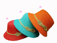 Children's Caps & Hats  hat  Children Lattice Fashion POP  hot selling  Cotton and linen