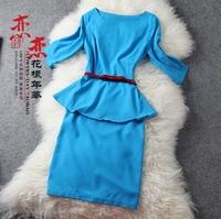 Fashion half sleeve skirt top bust skirt professional set gd169