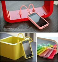 Hot! Silicone Grasshopper case with long antenna for iphone 4 4g 4s +retail box,100pcs/lot free shipping