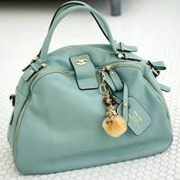 2013 new fashion women's genuine leather handbags vintage candy cowhide messenger bags black blue pink colors