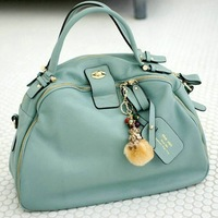 2013 new fashion women's genuine leather handbags vintage candy cowhide messenger bags black blue pink colors