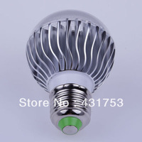 ( Wholesale )2year warranty10PCS- E27 RGB LED Lamp 9W AC85-265V /AC  Bulb Lamp with Remote Control multiple colour led lighting