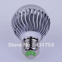 ( Wholesale )2year warranty10PCS- E27 RGB LED Lamp 9W AC85-265V /AC  Bulb Lamp with Remote Control multiple colour led lighting