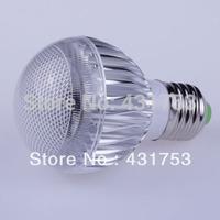 2014 New Led Light (high Power Free Shipping)5pcs- E27 Led Lamp Ac85-265v /ac Bulb with Remote Control Multiple Colour Lighting