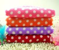 Free shipping 4 colors Pet mat pet blanket thermal blanket dog quilt dog blanket polka dot Air blanket