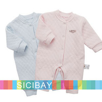 New Arrival Fashion Autumn Baby One-Piece Rompers ,Buttons Long Sleeve Jumpsuits, Boy & Girl Wear100% Cotton,Free Shipping K2212