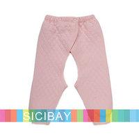 Nursery Clothing Kids Baby Pants Cotton Split Trousers Elasticized Waist Long Pants,100% CottonK2211
