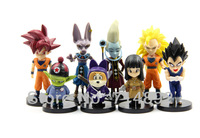 Dragon Ball Z  PVC Figure Goku Cell Hercule Videl Decoration Dolls 24pcs/set For Boy Toys Free Shipping