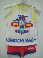 Bob DOG male children's sleeveless shorts set bd2b410