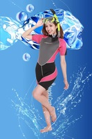 Manner Women submersible short-sleeve suit submersible clothing surf clothing mirror breathing tube