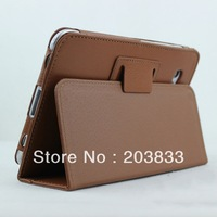"7"" Brown Folio PU Leather Case Cover Stand For Samsung Galaxy Tab 2 P3110 P3100"