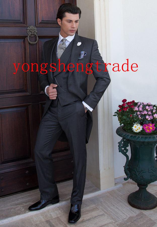 Designer Custom Made Wool Wedding Suit Silver Wedding Suits Best ...