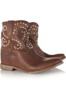 free shipping 2013 outlet isabel marant boots the caleen studded leather concealed wedge boots discount price no tax