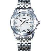 Free shipping 100% original quartz watch waterproof watch Korean business casual watch men stainless steel watch