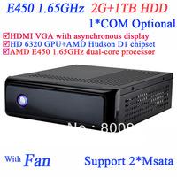 mini itx server windows 7 with AMD E450 1.65GHz AMD Radeon HD6320 graphic AMD Hudson D1 chipset 2G RAM 1TB HDD SECC chassis