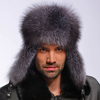 Cap Fox fur male lei feng  fur  male vintage fashion  winter mink genuine leather   hat Free shipping