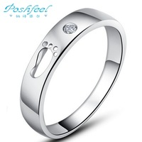 Fashion jewelry PF brand small footprint 925 stamp silver & 3 layers of platinum &  AAA crystal rings foot hollow out 1 pc