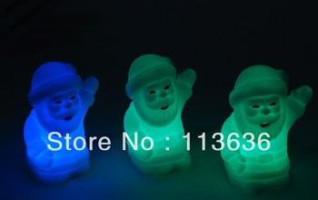 seven color changing Christmas LED Santa Claus Light / Colorful Night Light Christmas Party/Home Decorations Christmas Lighting