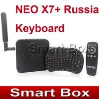 MINIX NEO X7 Quad core RK3188 2G 16G TV BOX set top box  Android 4.2 rk3188 + Russia Language UKB-500 Keyboard with touchpad