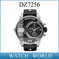 HK post free shipping  New DZ7256 Ana-Digi SBA Oversized Black and Silver Dial DZ 7256 Men's Watch+original box