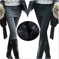 Free shipping High Quality 2013 Korea style women cotton blends thick winter warm skirt leggings factory wholesale price