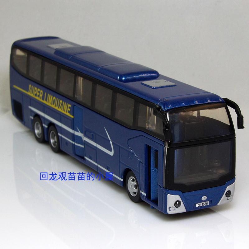 Alloy ql6565 bus large coach car model WARRIOR toys acoustooptical 2 open the door(China (Mainland))