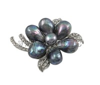 Free shipping!!!Freshwater Pearl Brooch ,Guaranteed 100%, 44x55mm, Sold By PC
