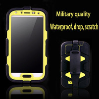 Military quality Waterproof,Drop resistance,Dustproof Shell case for S4 SIV i9500 i9508 Comprehensive Protection silicone cases