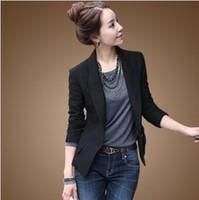 Free shipping!black Long sleeve suits jacket outerwearr women's black plus size blazer slim suit coatKLYZ8020#