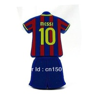 Fast ship 4gb 8gb 16gb 32gb messi 10 shirt USB 2.0 flash drive memory pen disk
