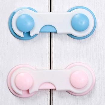 50PCS Blue Pink door drawer fridge Furniture cabinet children refrigerator children safety locks child Kids baby tough plastic