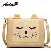 Free Shipping 2013 Designer woven bag casual preppy style straw bag women's handbag messenger bag