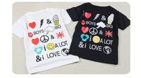 Wholesale Free Shipping Short Sleeve 100%Cotton Multi Picture Printed Tshirt Size100-140 Summer TShirt 5Pcs/Lot Kids Shirt