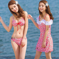 Push up bikini swimwear small steel piece set skimpily young girl one piece swimwear