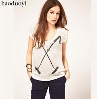 Free ship women's Cross golf clubs printing t shirt short sleeve cotton t-shirt lady t shirts