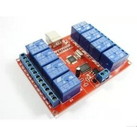 Free shipping, 1pcs Free drive / usb control switch / 8- channel 12V Relay Module / Computer control switch