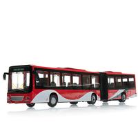 1:43 scale Bus model lengthen Bus alloy car model pull back