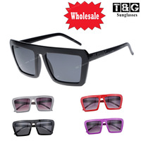 New Futuristic DJ Clubbing Retro Sunglasses Bold Flat Top Vintage Glasses 80s Square Sport Sun glasses