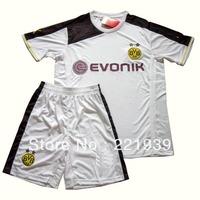 New Germany Bundesliga 13/14 Borussia Dortmund Club Goalkeeper Weidenfeller soccer jerseys goalie embroidery jerseys+short sets