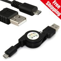 25pcs/lot Retractable Micro USB Data Charger Sync Cable For HTC Blackberry Sumsang Galaxy S3 i9300