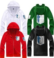 cosplay costume attack on titan shingeki no kyojin investigation novelty hoodies allen long sleeves zipper hoodies