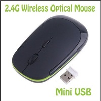 5lot /pc   PROMOTION 1200 DPI Ultra Thin  Wireless Mouse Slim Mice 2.4G Receiver for Laptop PC Free shipping hot sale