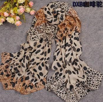 Min order $15 Free Shipping!2013  New Women's Fashion leopard printed Design chiffon scarf/ shawl! SC188