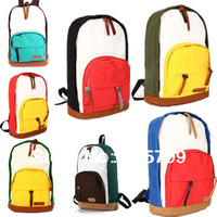 New Hot Girls / Ladies / Womens colorful  Canvas Backpack Schoolbag Bookbag Handbag Shoulder Gym Knapsack Rucksack Traveling Bag